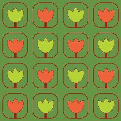 Carta da parati Campioni di tessuto Tulipani