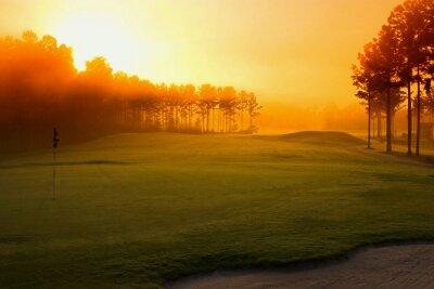 Carta da parati campo da golf all'alba
