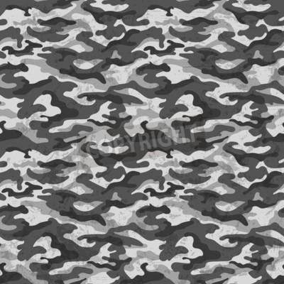 Carta da parati Camuffamento in bianco e nero con sfondo effetto grunge. Illustrazione vettoriale