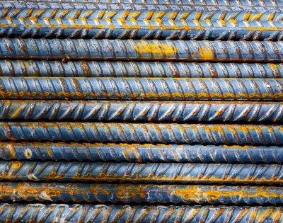 Carta da parati Cantiere - Sfondo barre di acciaio