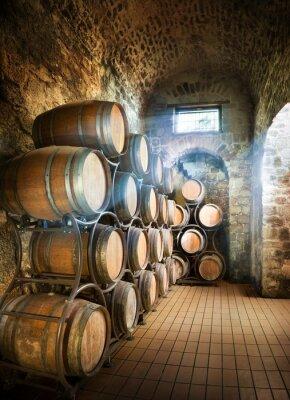 Carta da parati Cantina con botti per la conservazione di vino