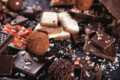 Carta da parati caramella di cioccolato