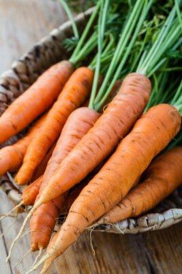 Carta da parati carote fresche mazzetto