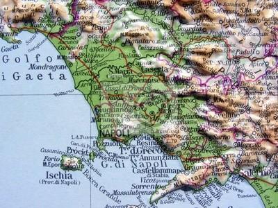 La Cartina Geografica Della Campania.Carta Geografica Della Campania Carta Da Parati Carte Da Parati Caserta Salerno Autostrada Myloview It