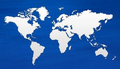 Carta da parati carte du monde