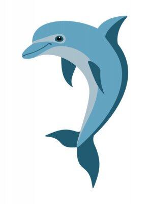 Carta da parati cartone animato delfino