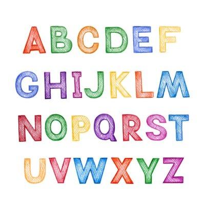 Carta da parati Cartone animato per bambini ABC