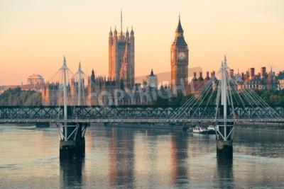 Carta da parati Casa del Parlamento a Westminster a Londra.