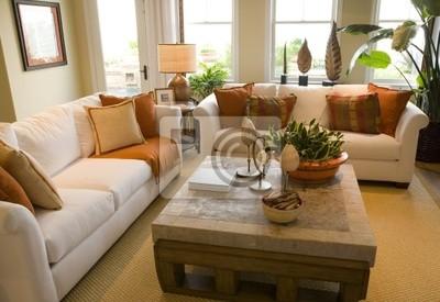Arredare Soggiorno Con Carta Da Parati : Casa di lusso soggiorno con arredamento moderno carta da parati