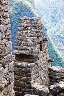 Carta da parati casa nella città di Machu Picchu