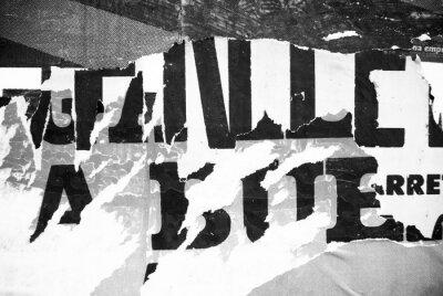Carta da parati Casuale sfondo collage di carta tipografia trama sulla parete