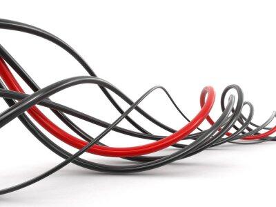 Carta da parati cavi colorati. Immagine con il percorso di clipping.