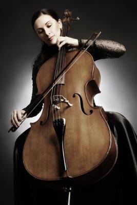 Carta da parati Cello giocatore violoncellista gioco