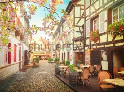Carta da parati centro storico di Strasburgo, Francia