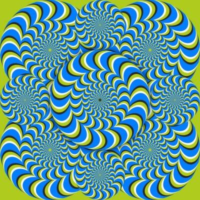 Carta da parati cerchi onda illusione ottica