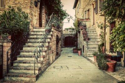 Carta da parati Charming vecchia architettura medievale in una città in Toscana, Italia.