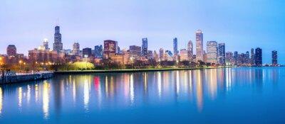 Carta da parati Chicago downtown e il Lago Michigan Panorama