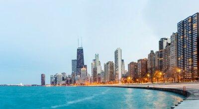 Carta da parati Chicago panoramico Lago Michigan