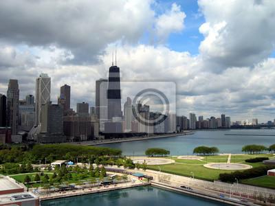 Carta da parati Chicago Skyline Horizontal