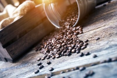Carta da parati Chicchi di caffè in benna
