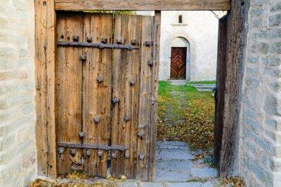 Carta da parati chiesa medievale