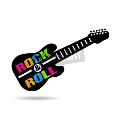 Carta da parati chitarra Rock and Roll