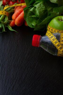 Carta da parati cibo sano sul tavolo