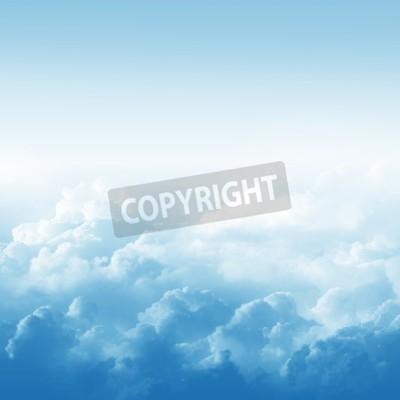 Carta da parati cielo azzurro e nuvole illustrazione astratta