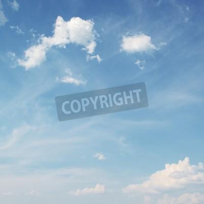 Carta da parati Cielo blu con sfondo bianco nuvole