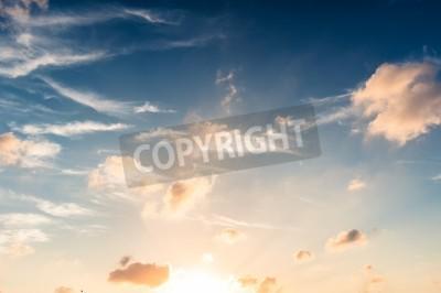 Carta da parati Cielo blu nel tramonto