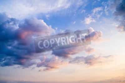 Carta da parati cielo con nuvole e sole