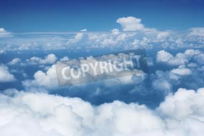 Carta da parati Cielo e nubi da volo dell'aeroplano