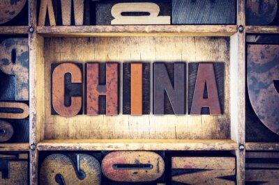 Carta da parati Cina Tipo Concetto Letterpress