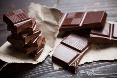 Carta da parati Cioccolato con carta rustica