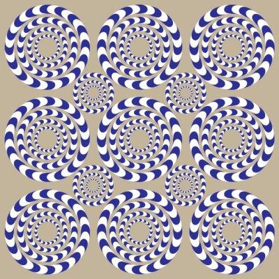 Carta da parati Circles Spin (illusione)
