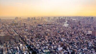 Carta da parati Citiscape di Tokyo al tramonto, in Giappone