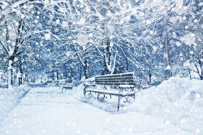 Carta da parati Città coperto di neve
