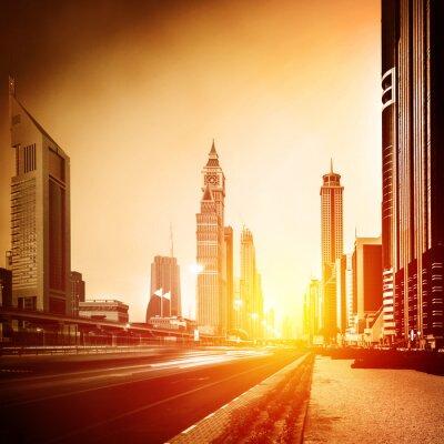 Carta da parati Città di Dubai nel tramonto