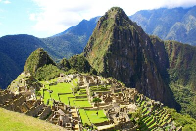 Carta da parati città misteriosa di Machu Picchu, in Perù.