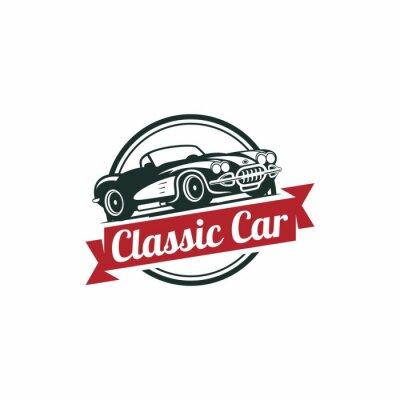 Carta da parati Classic Car vettore modello