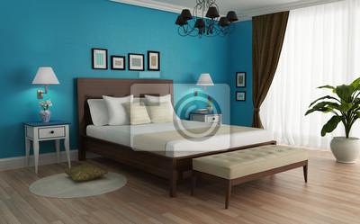 Camera Da Letto Parete Turchese : Classic turchese camera da letto di lusso con lampadario carta