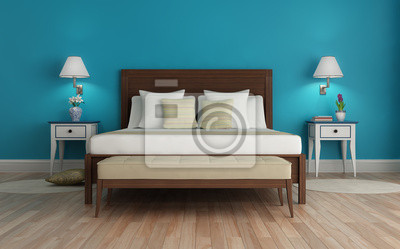 Camera Da Letto Parete Turchese : Classic turchese fresco camera da letto di lusso con lampadario