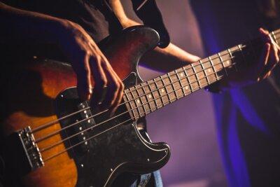 Carta da parati Close-up di bassista