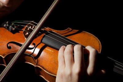 Carta da parati Close-up di uomo che suona il violino