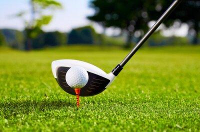 Carta da parati Closeup of golfball on tee for first stroke