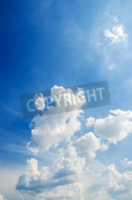 Carta da parati Cloudscape del cielo blu brillante