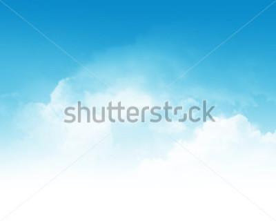 Carta da parati Cloudy blue sky abstract background