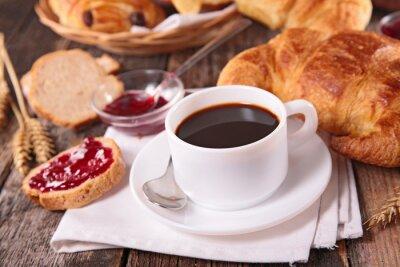 Carta da parati coffee cup and croissant