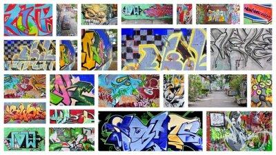 Carta da parati collage ... graffiti