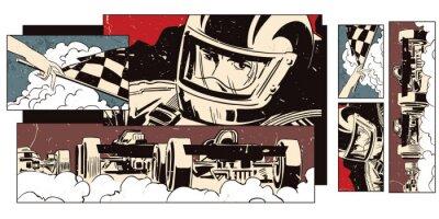 Carta da parati Collage su sport di tema e corse automobilistiche.